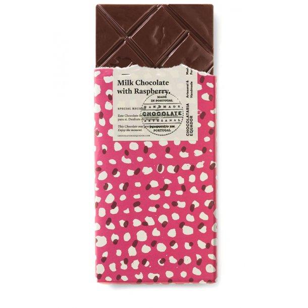 Mørk chokolade med hindbær