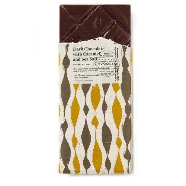 Mørk chokolade med karamel og havsalt