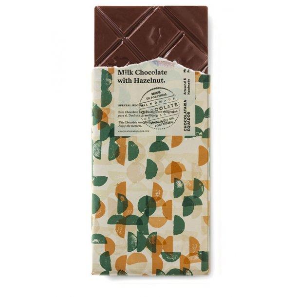 Mælkechokolade med hasselnødder