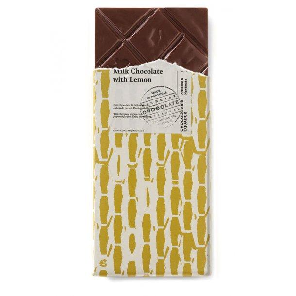 Mælkechokolade med citron