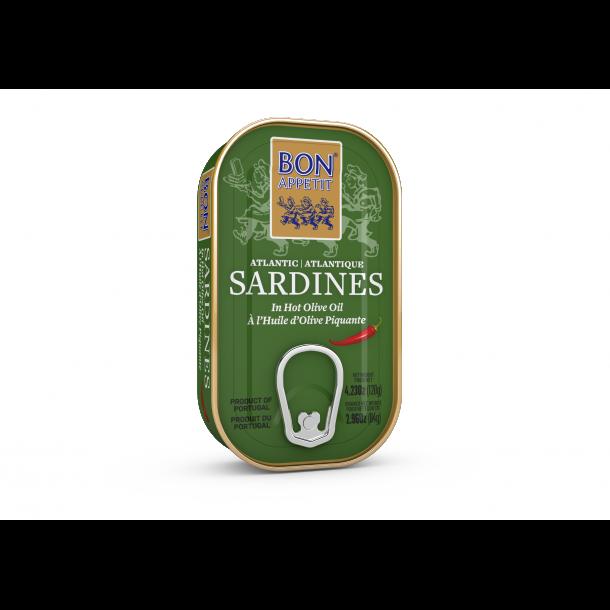 Sardiner - Hot - i Olivenolie