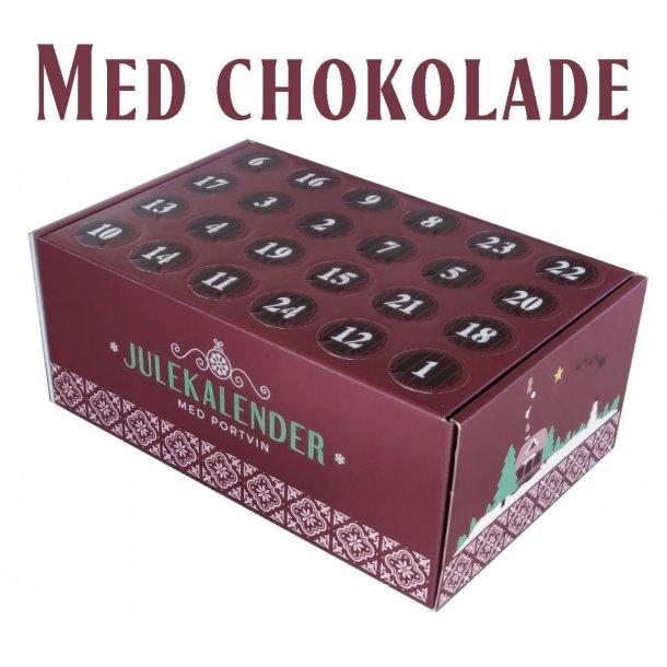 Portvinsjulekalender med chokolade 2021