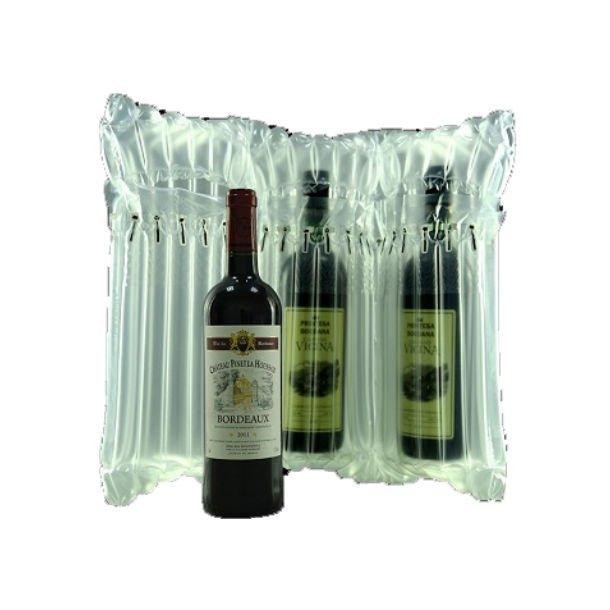 Oppustelig beskyttelsesemballage til flasker